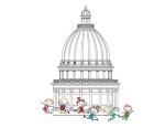 kids in front of legislature