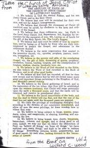 14 Articles of Faith
