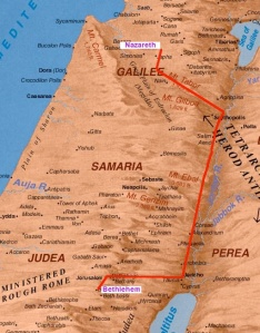 2014 Nazareth to Bethlehem Route Probably Taken by Joseph and Mary