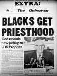 Blacks get the priesthood newspaper