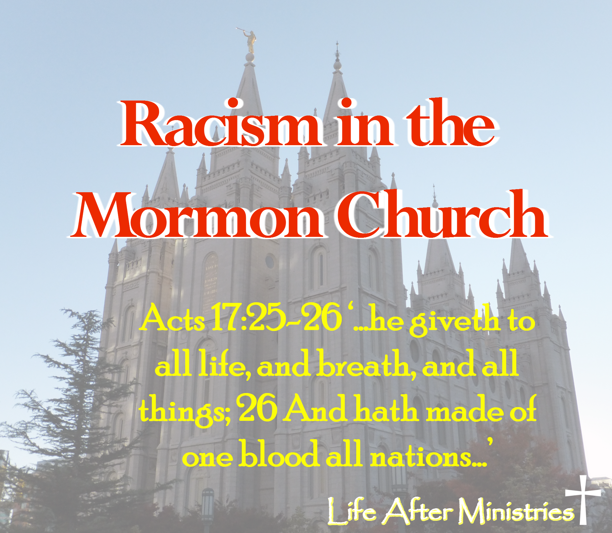 Racist Book Of Mormon Changes Life After Ministries