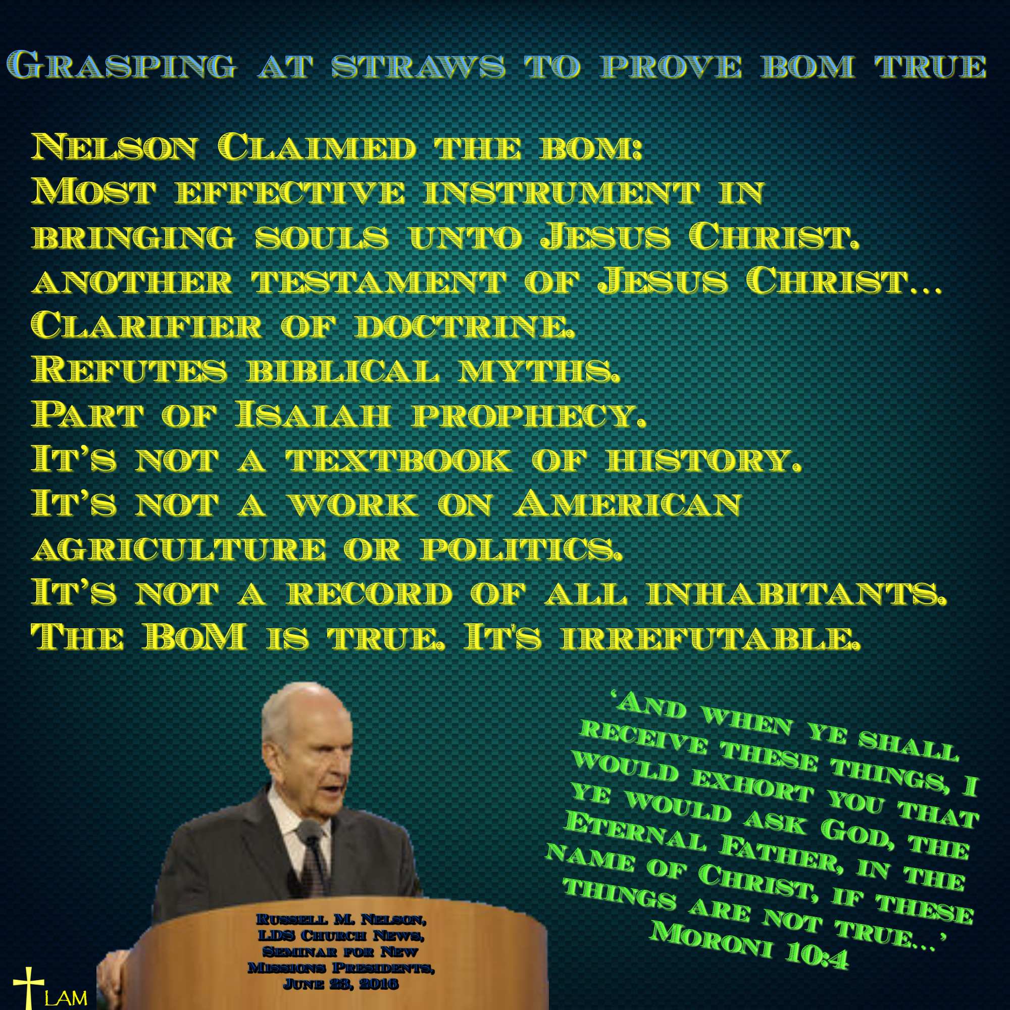 After mormonism life after ministry grasping at straws to prove bom true biocorpaavc